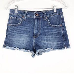 Lucky Brand The High Rise Shortie Denim Shorts